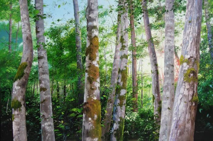 Erika Toliusis BC Forest #3 40x60