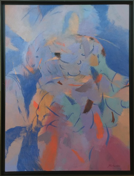 Robert Michener Blue Madonna 40x30 450