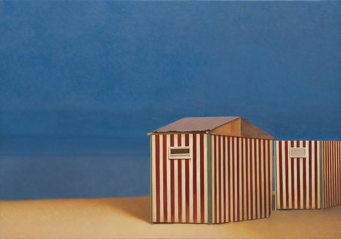 Wim Blom Deserted beach 26x36