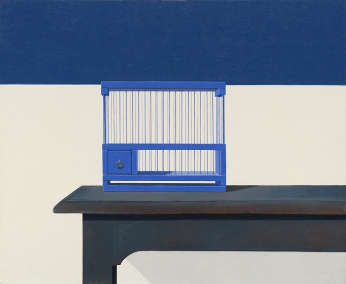 Wim Blom Empty birdcage 18x22