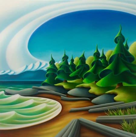 Dana Irving French Beach 36x36 450