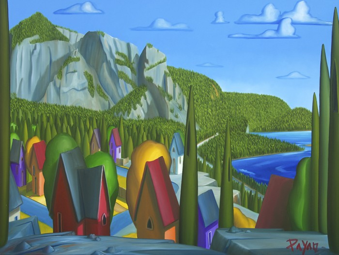 Howe Sound, Squamish Chief View  36x48 700