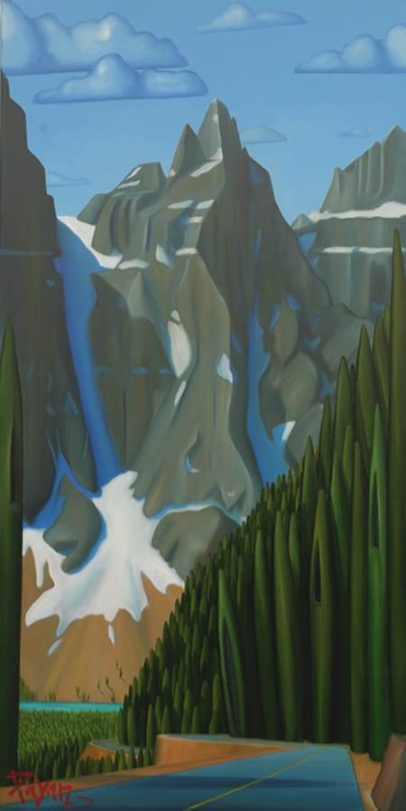 Glenn Payan Moraine Lake Rd, Mount Tonza 60x30