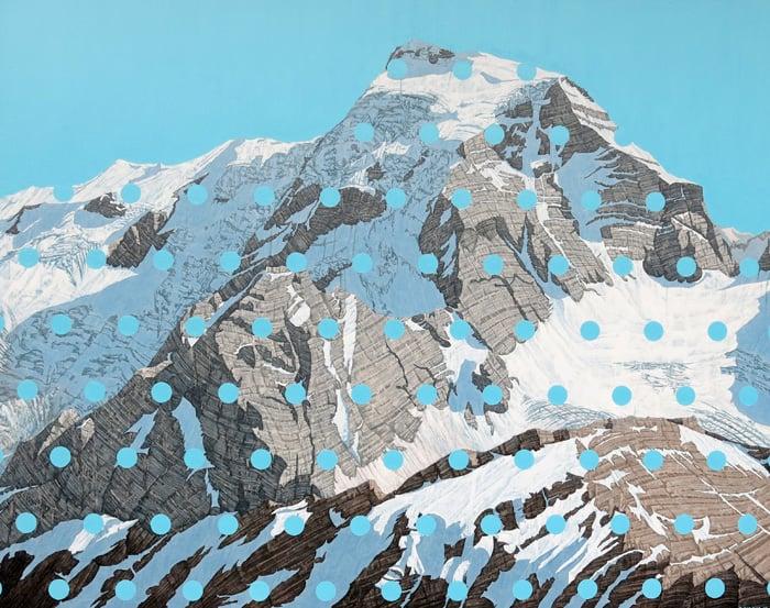 David Pirrie Mt Sir Sanford 48x60