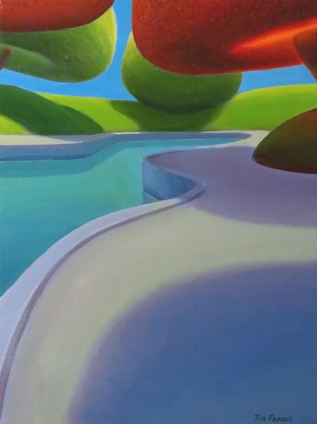 Tim Fraser Seawall Circular Landscape 24x18