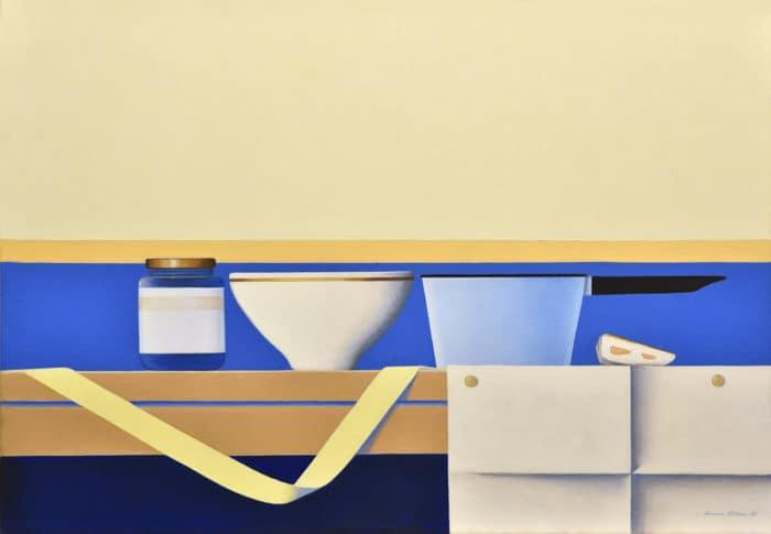 Wim Blom Shelf with a ribbon