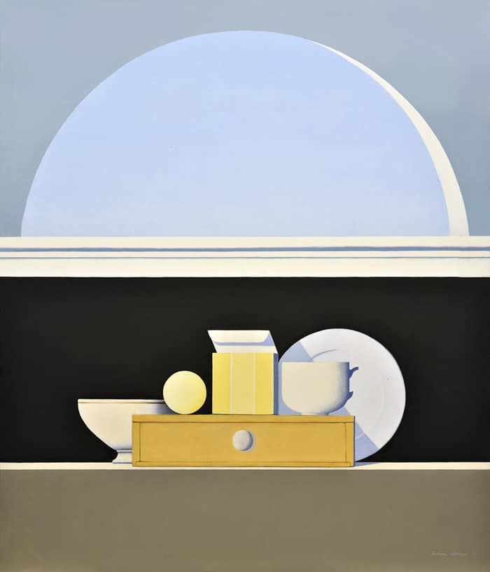 Wim Blom Still life below and open window