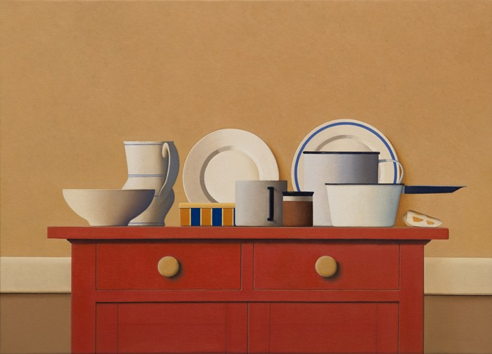 Wim Blom The red cabinet 24x28