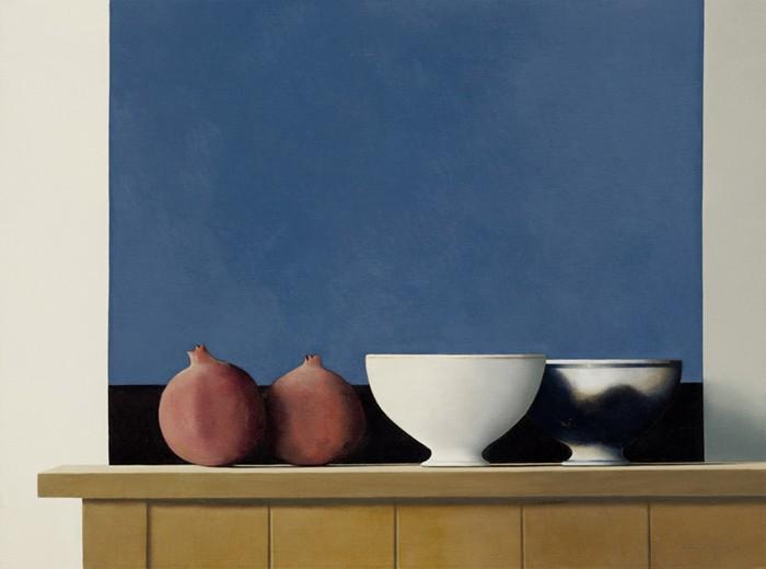 Wim Blom Two pomegranates 18x24