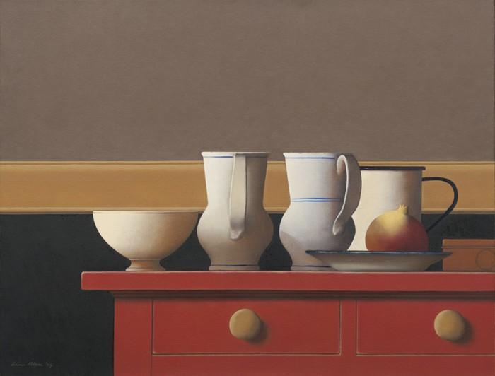 Wim Blom Two valentian jugs 20x26
