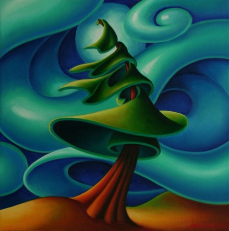 Dana Irving Feeling the Wind 1Painting