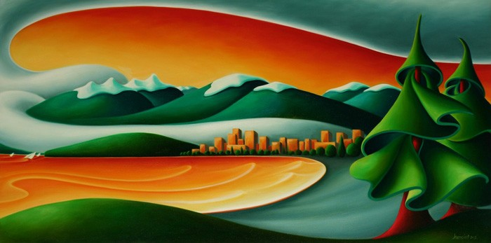 Dana Irving Kitsilano Sunset Painting
