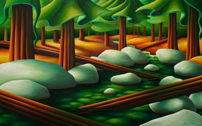 Dana Irving Sticks and Stones Painting