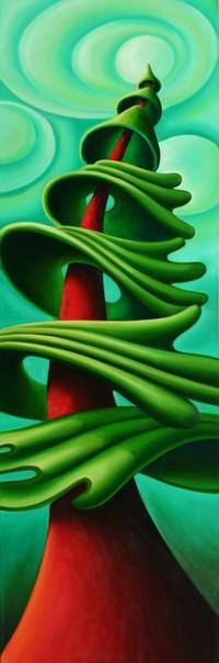 Dana Irving Towering Painting