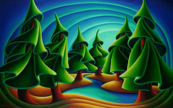Dana Irving Tuning in Painting