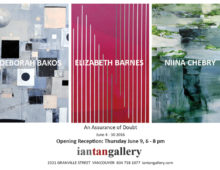 Guest Artists Bakos, Barnes & Chebry: Jun 4 – 30, 2016