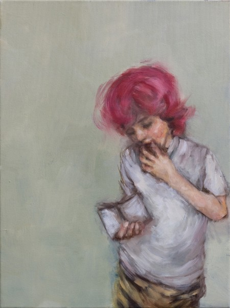 Eri Ishii Boy with Pink Hair 24x18