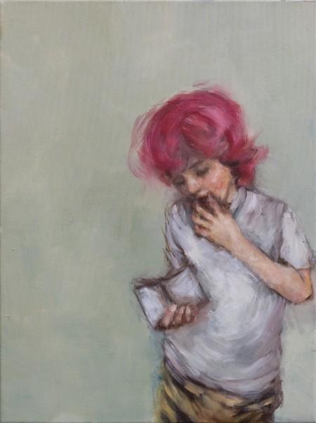 Eri Ishii Boy with Pink Hair 24x18