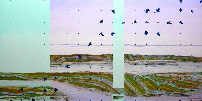 Sean Randall bluebirdblue-36x72