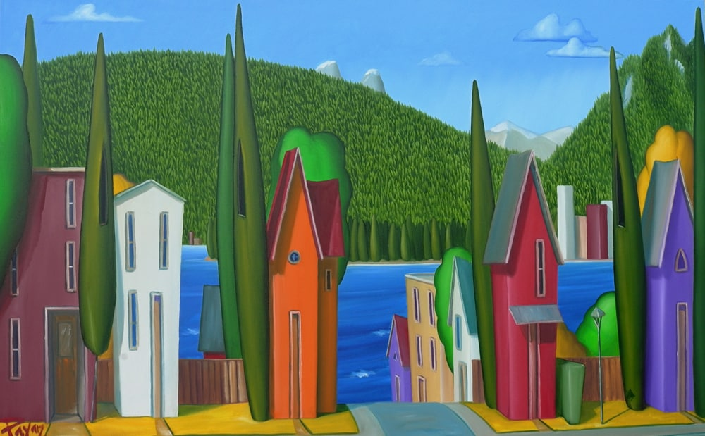 Glenn Payan Neighbourhood View, Kitsilano 30x48
