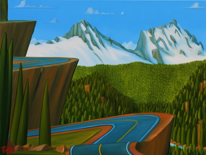 Glenn Payan on_the_way_home_from_-whistler_36x48