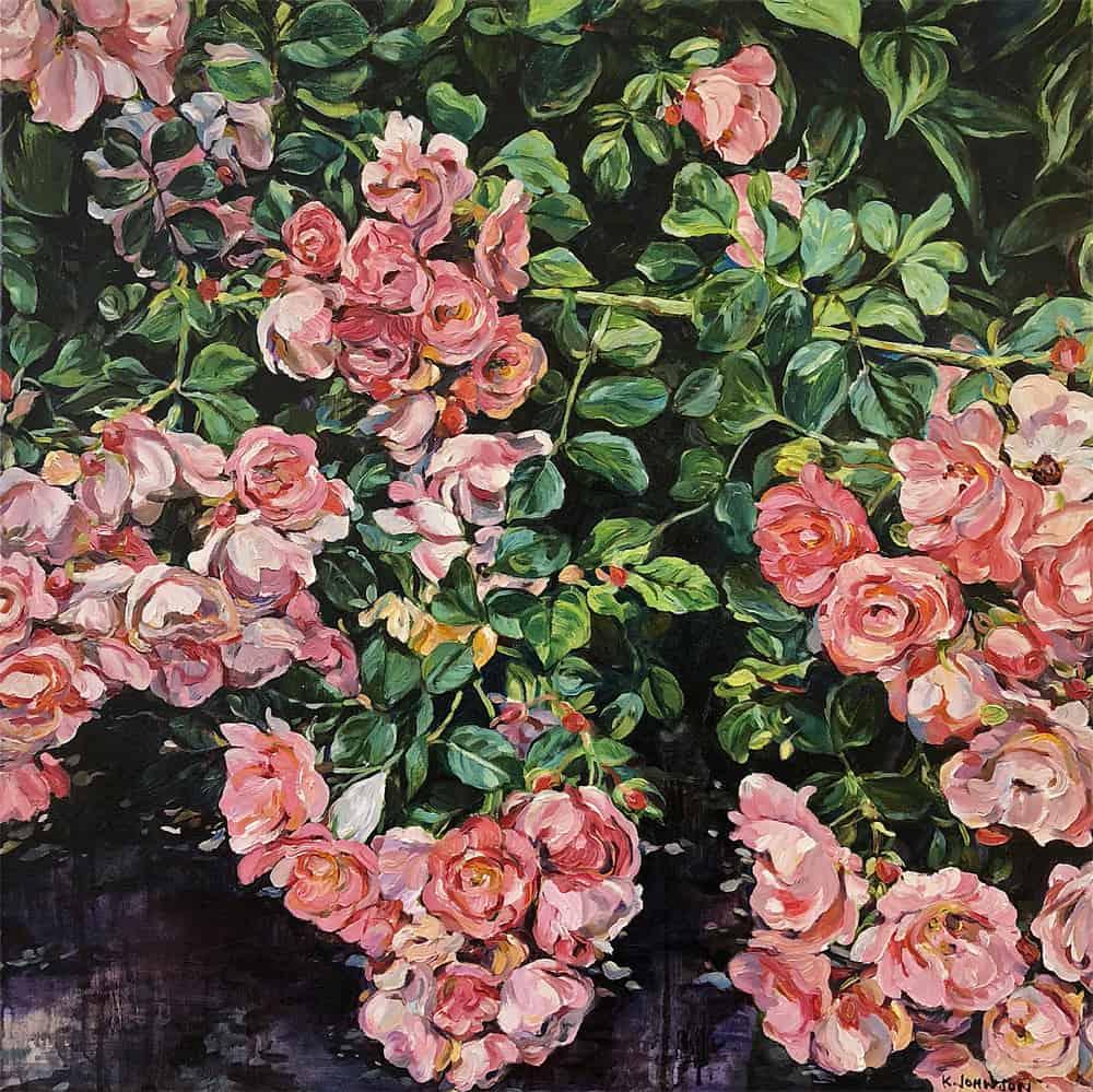 Krista Johnson Roses Collapse 24x24