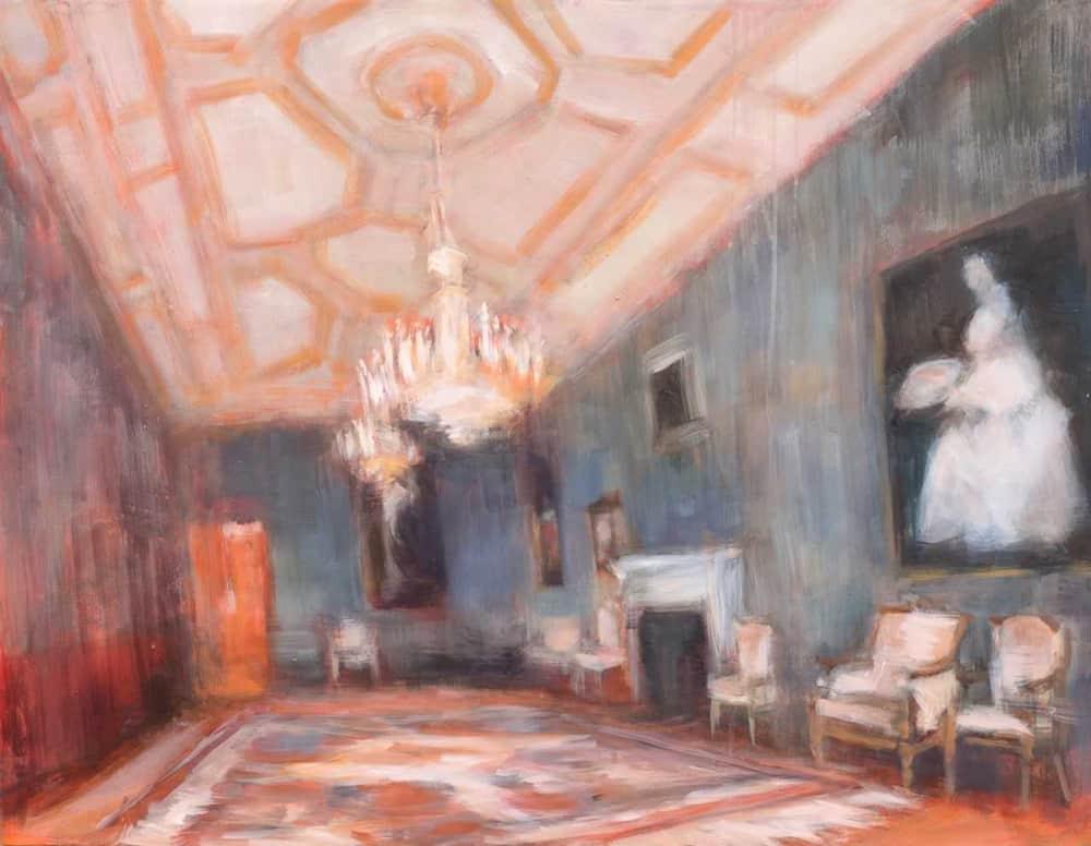 Eri Ishii Interior with Paintings 28x36
