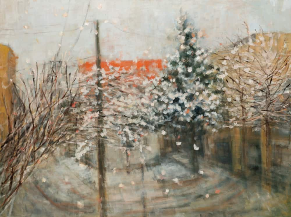 Eri Ishii Snowy Day 36x48