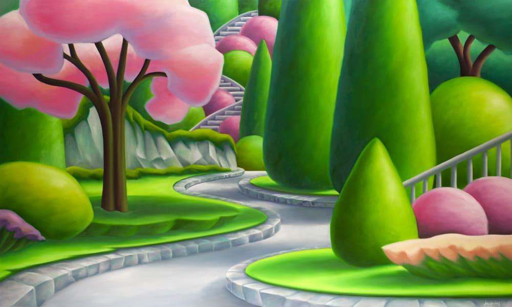 Dana IrvingThe Sunken Garden 36x60