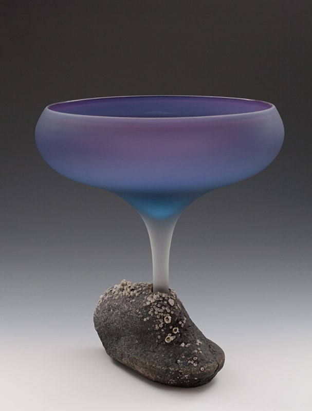 Mary Fox Purple Flower Chalice 15x12.5