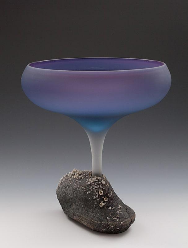 Mary Fox Purple Flower Chalice 15x12.5