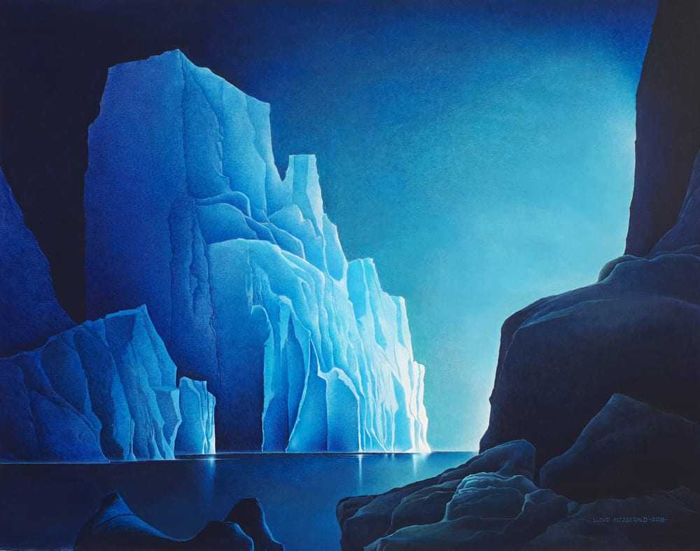 Lloyd Fitzgerald Sunrise On Ancient Icebergs 32x41
