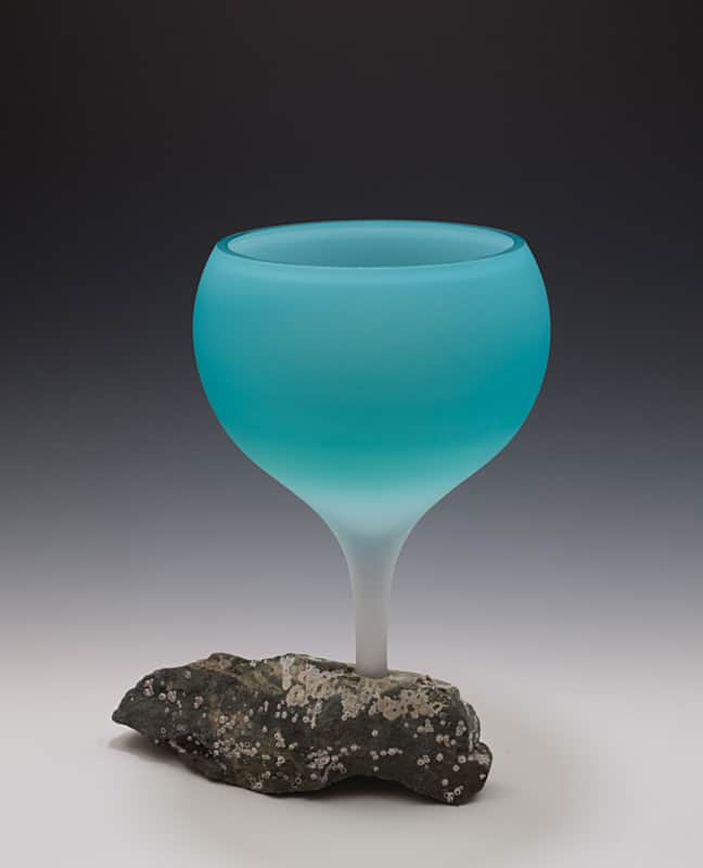 Mary Fox Turquoise Chalice 16x13