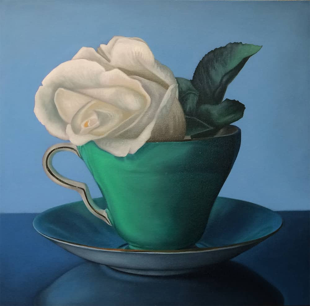 Jeff Chester Teacup with rose