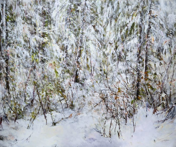 Judy Cheng snow-trail-i-50x60