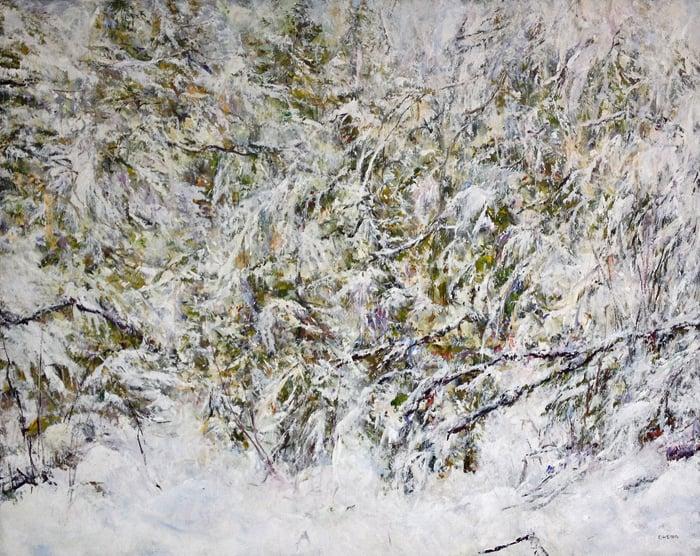 Judy Cheng snow-trail-v-48x60