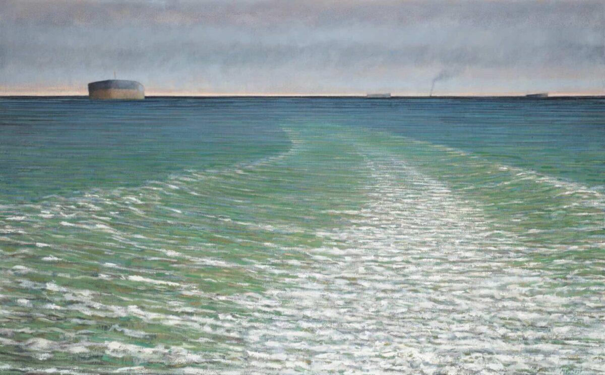 Marcus Bowcott Grey Sky Green Wake