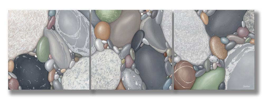 Kristina Boardman Belonging triptych 24x72