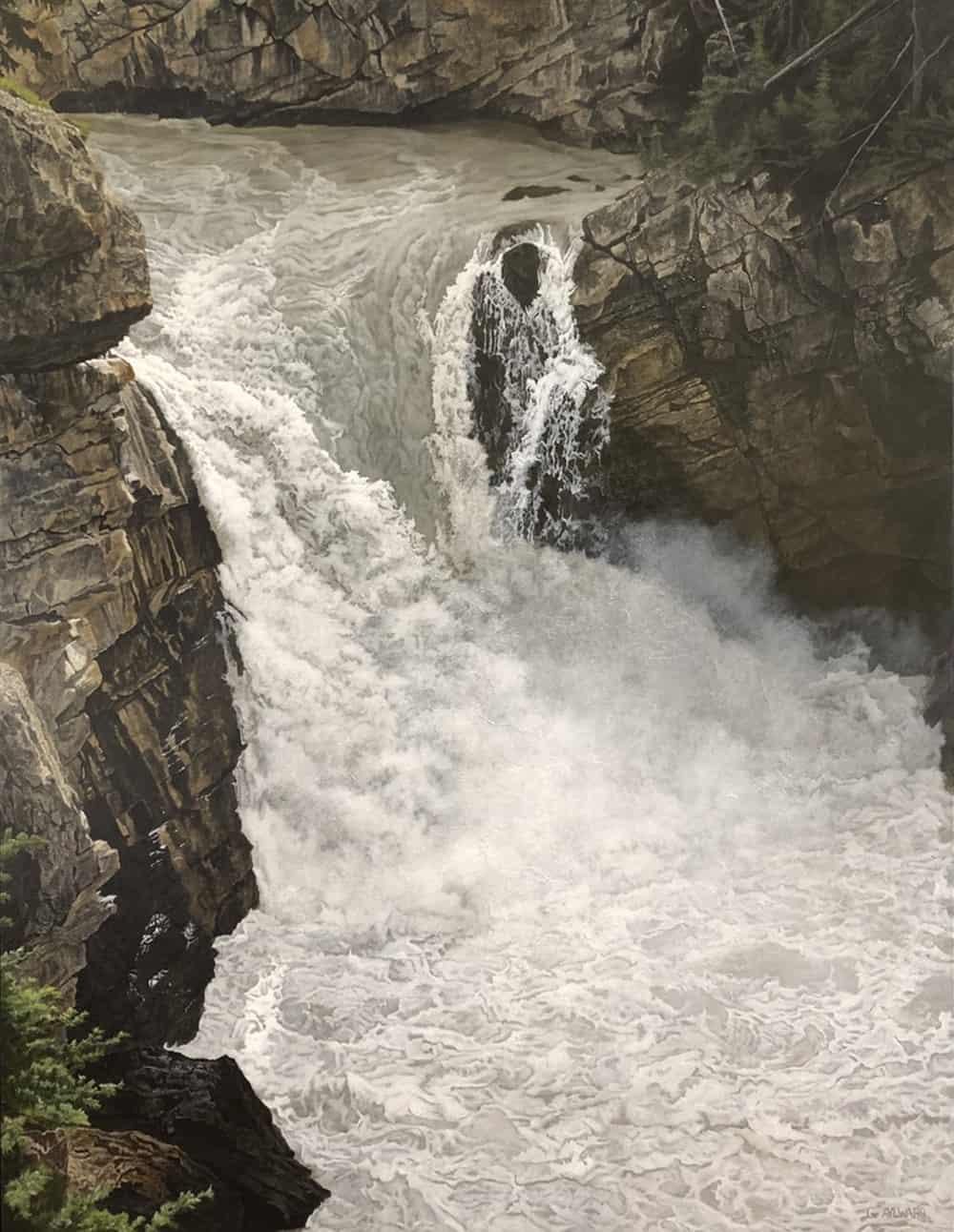 Gary Aylward Sunwapta Canyon Cascade