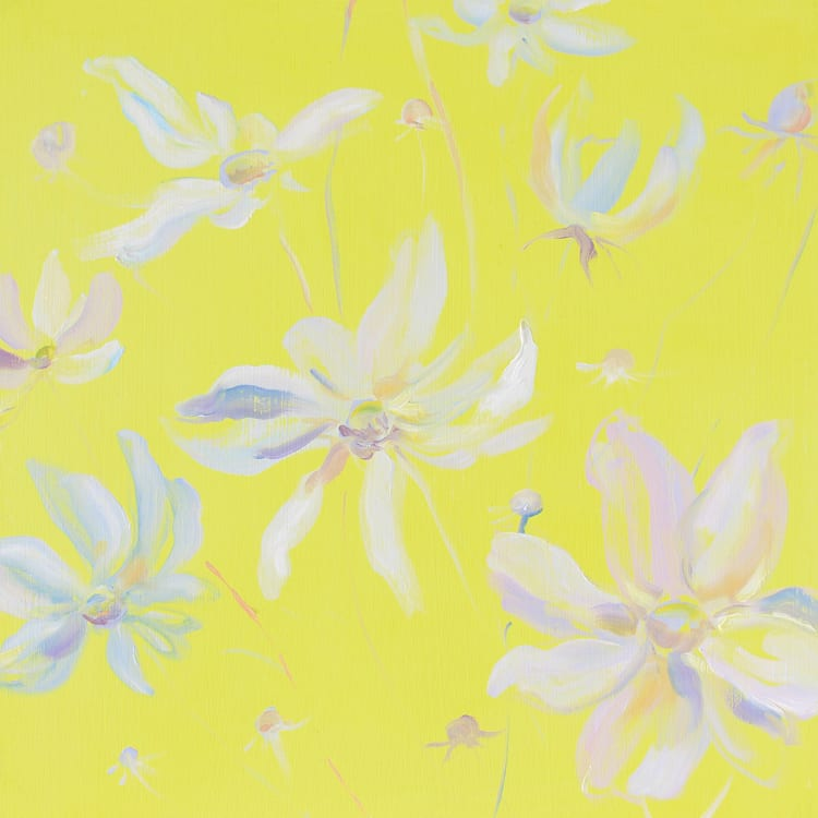 Krista Johnson Colour Block-Yellow Cosmos 16x16