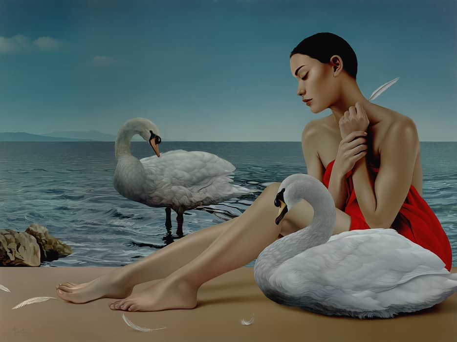 Marco Tulio leda-and-the-swan-36x48