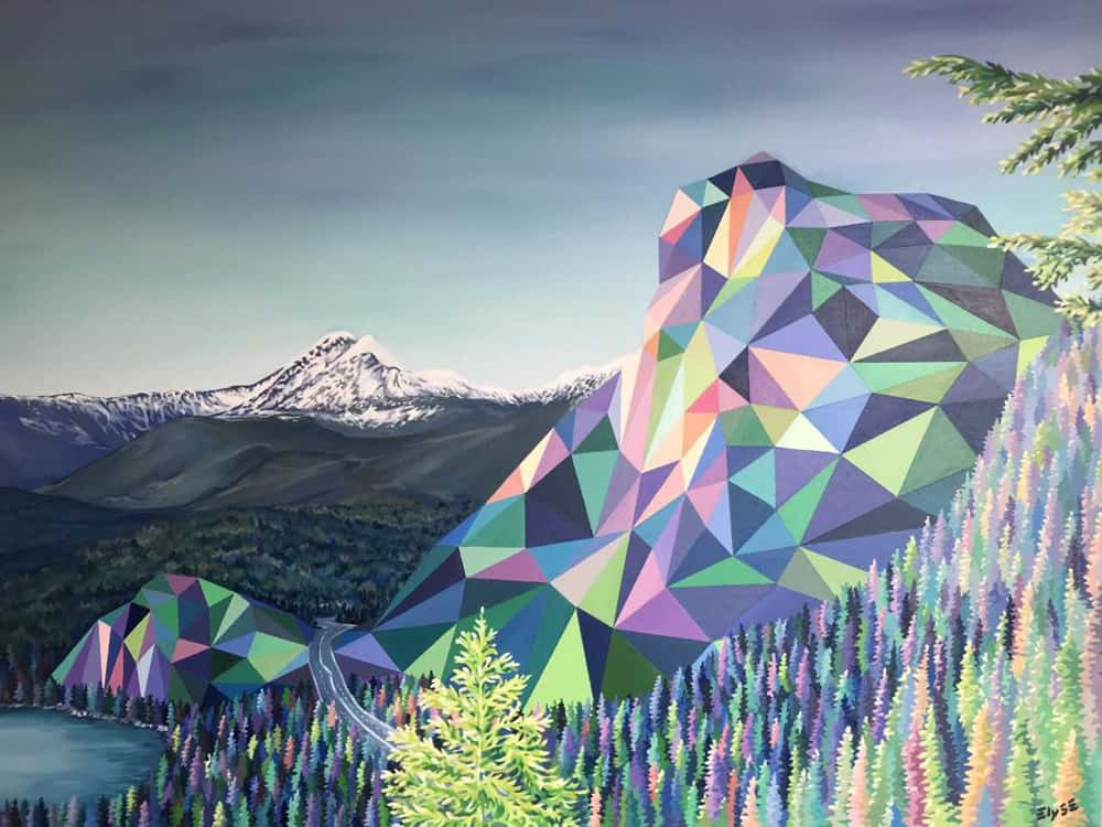 Elyse Dodge The Stawamus Chief 36x48
